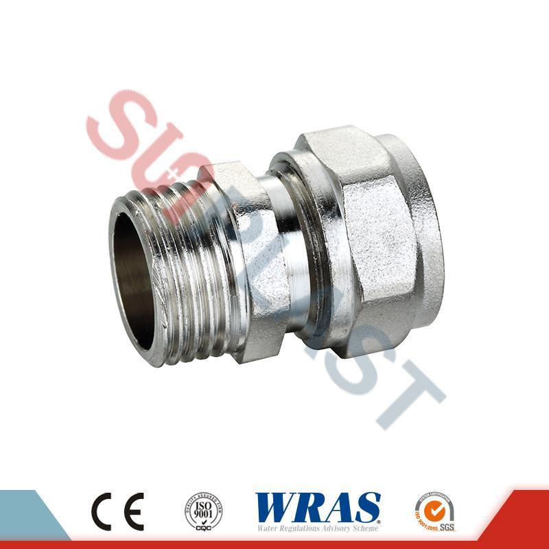 Brass Compression Male Coupling For PEX-AL-PEX Multilayer Pipe